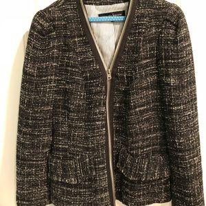Nanette Lepore zip tweed jacket/blazer